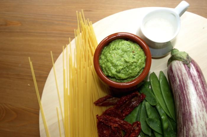 Zutaten Rucola Salbei Cashew Pesto