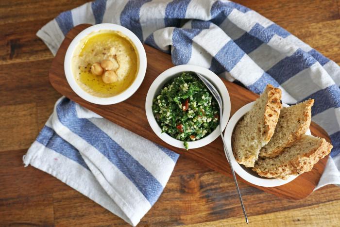 Hummus und Taboulé