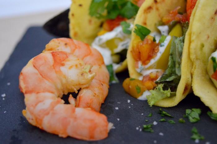 Gefüllte Mais-Tortillas mit Shrimps