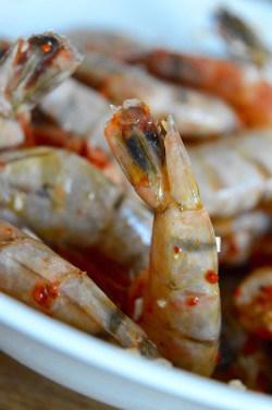 Shrimps für Mais-Tacos